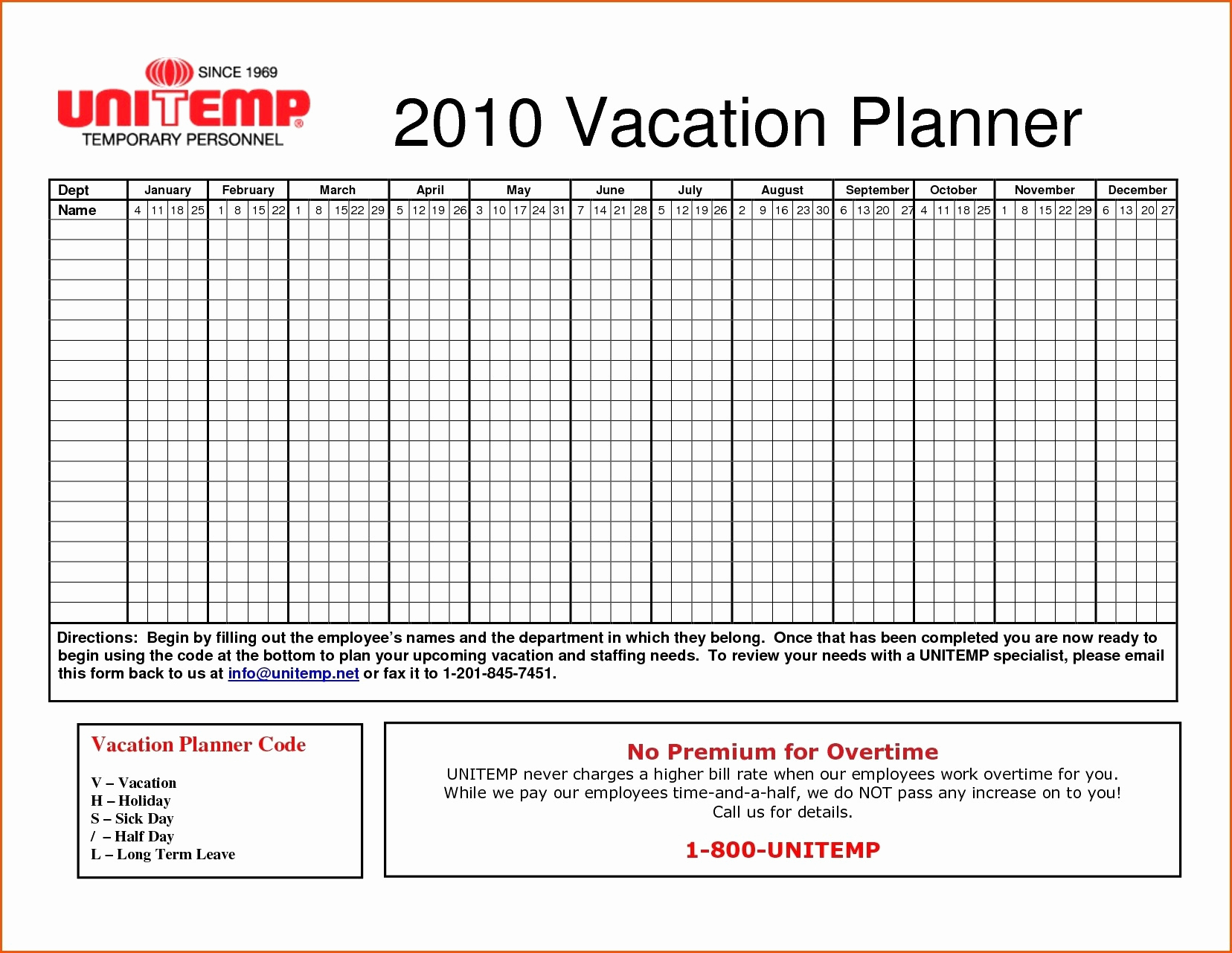 Paid Time Off Tracking Spreadsheet Inside Time Off