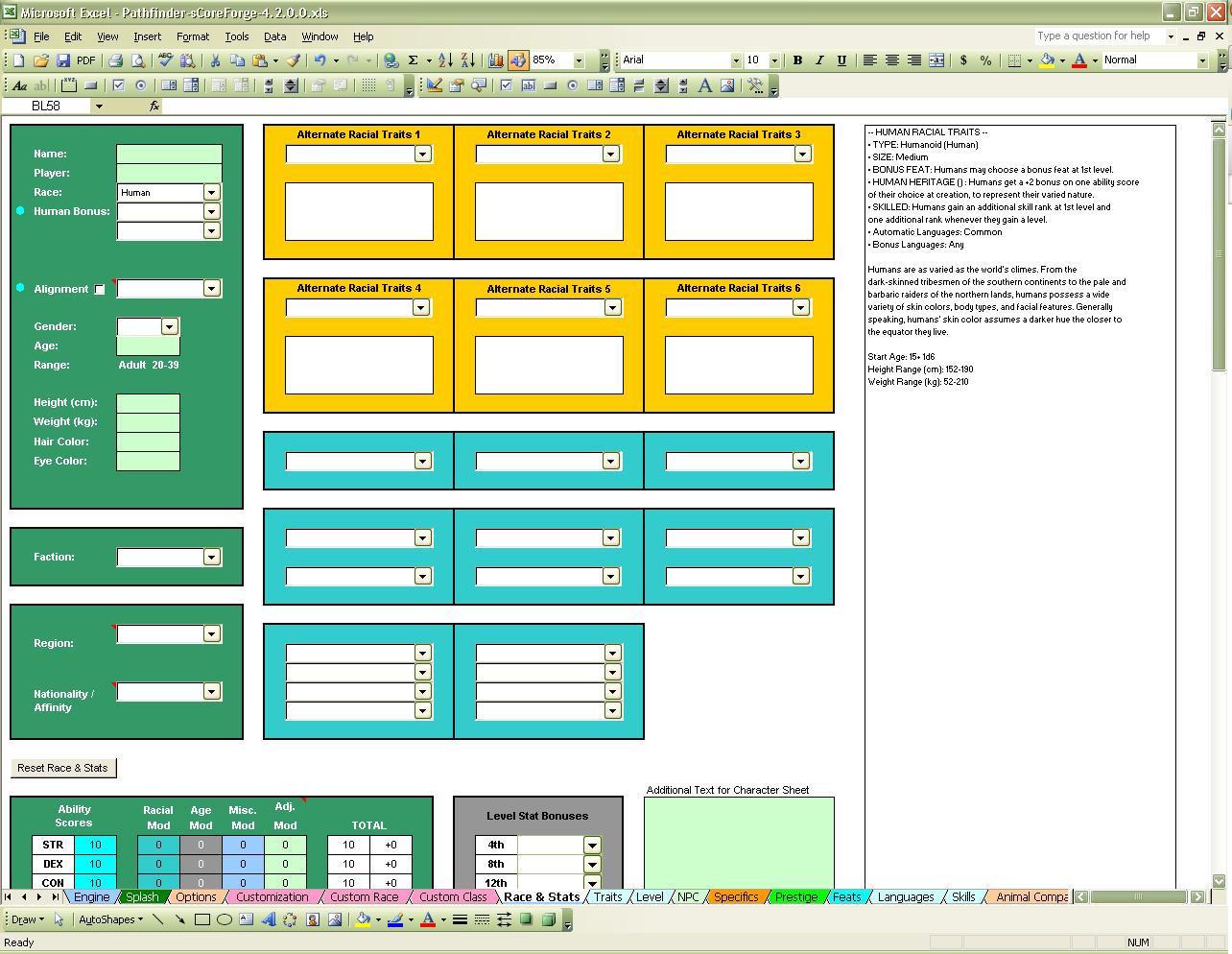 Pathfinder Downtime Spreadsheet In Nikki Scoreforge