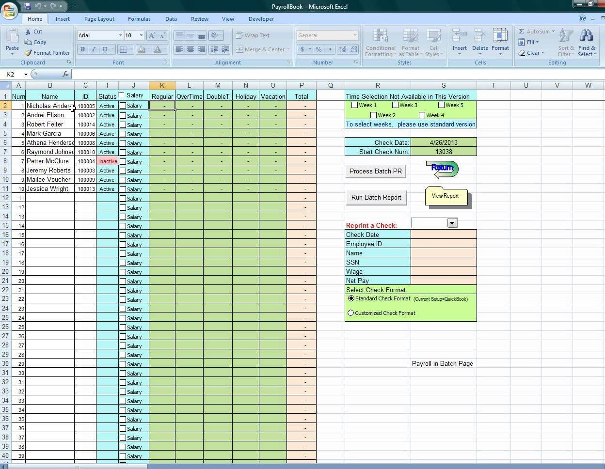 Payroll Spreadsheet Australia Regarding Payroll