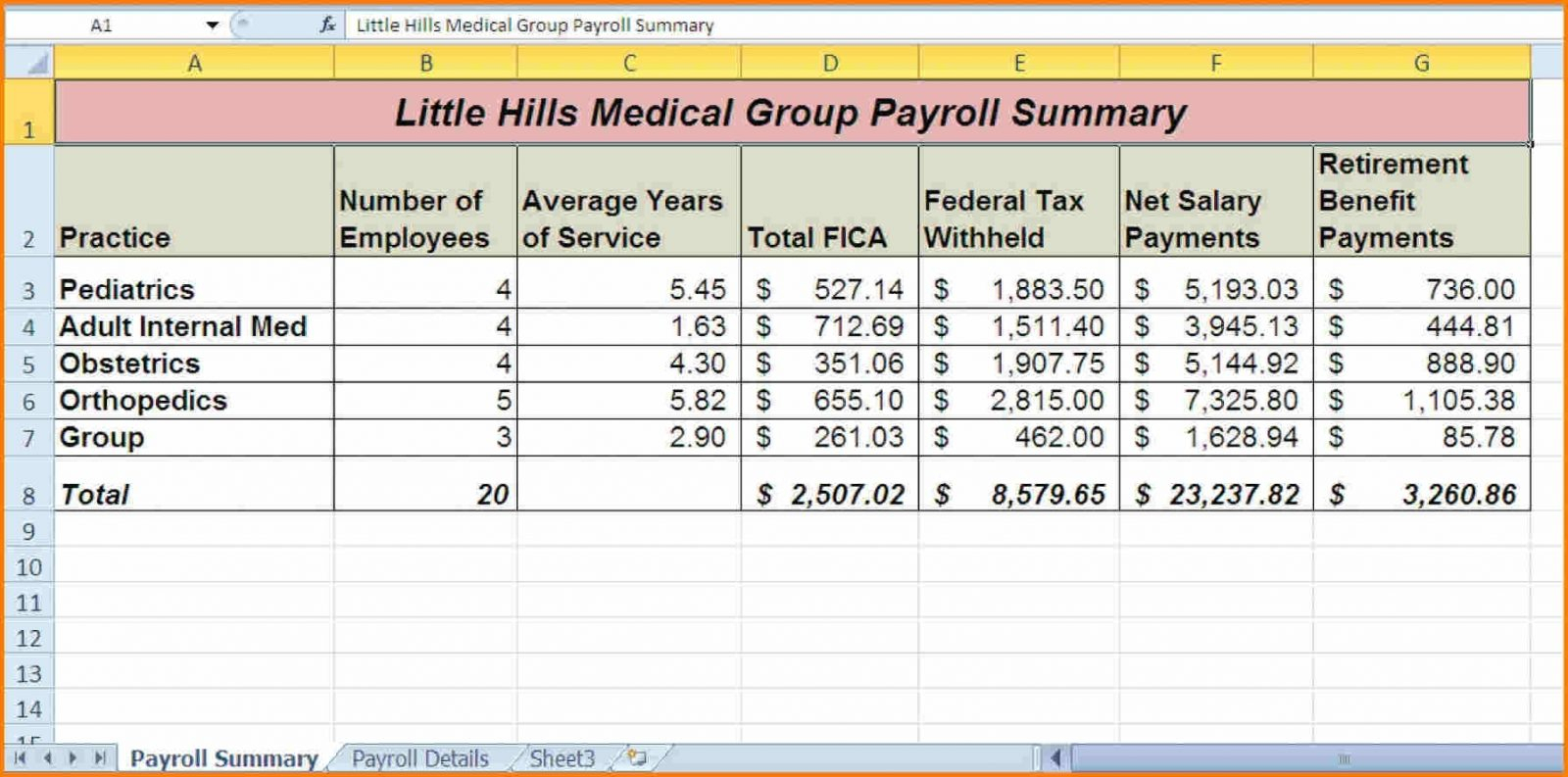 Payroll Spreadsheet For Small Business With Free Payroll