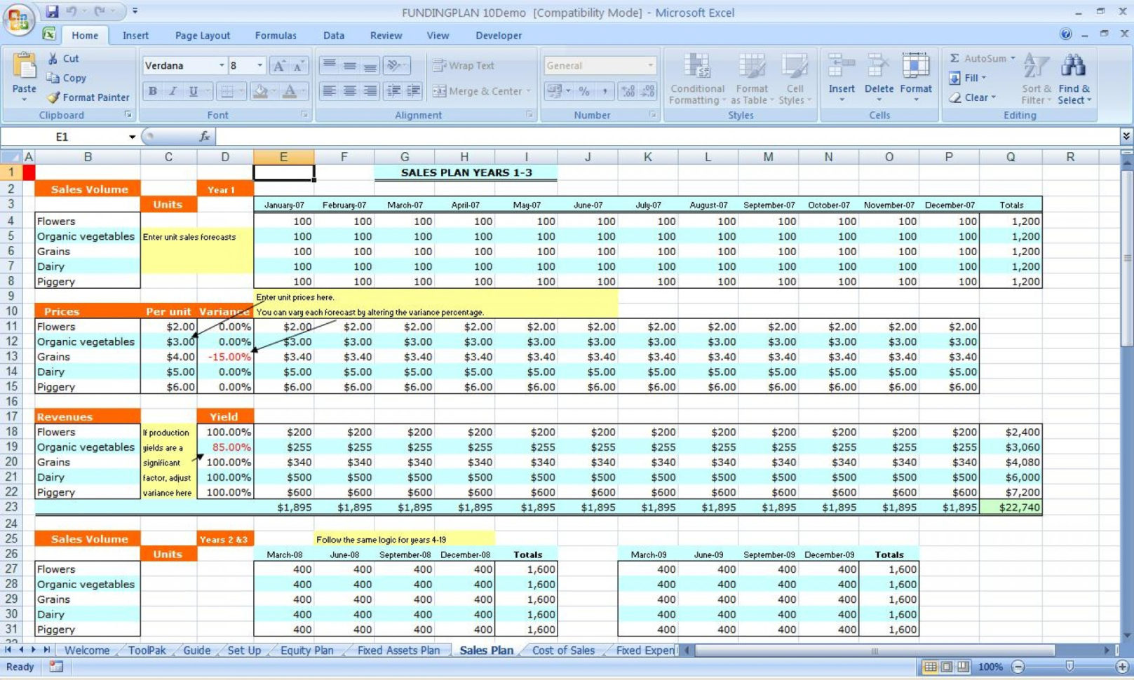 Personal Financial Planning Spreadsheet Spreadsheet