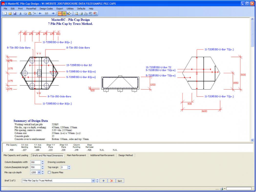 Pile Cap Design Spreadsheet Throughout Masterseries