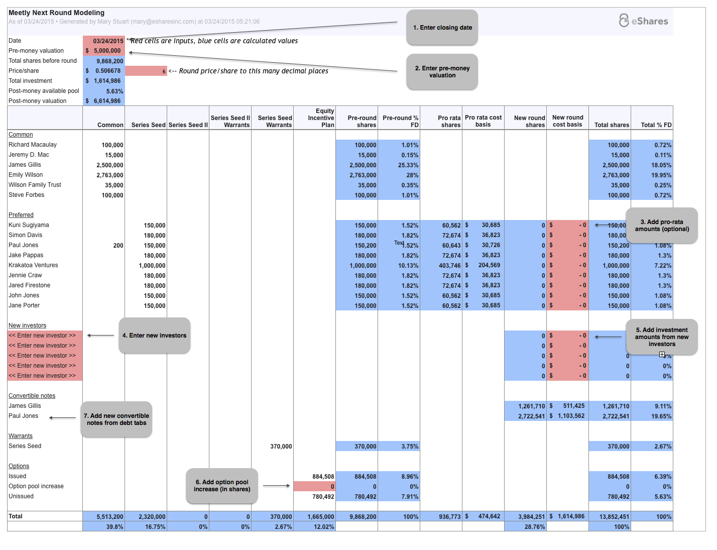 Pro Forma Spreadsheet Intended For Pro Forma Round