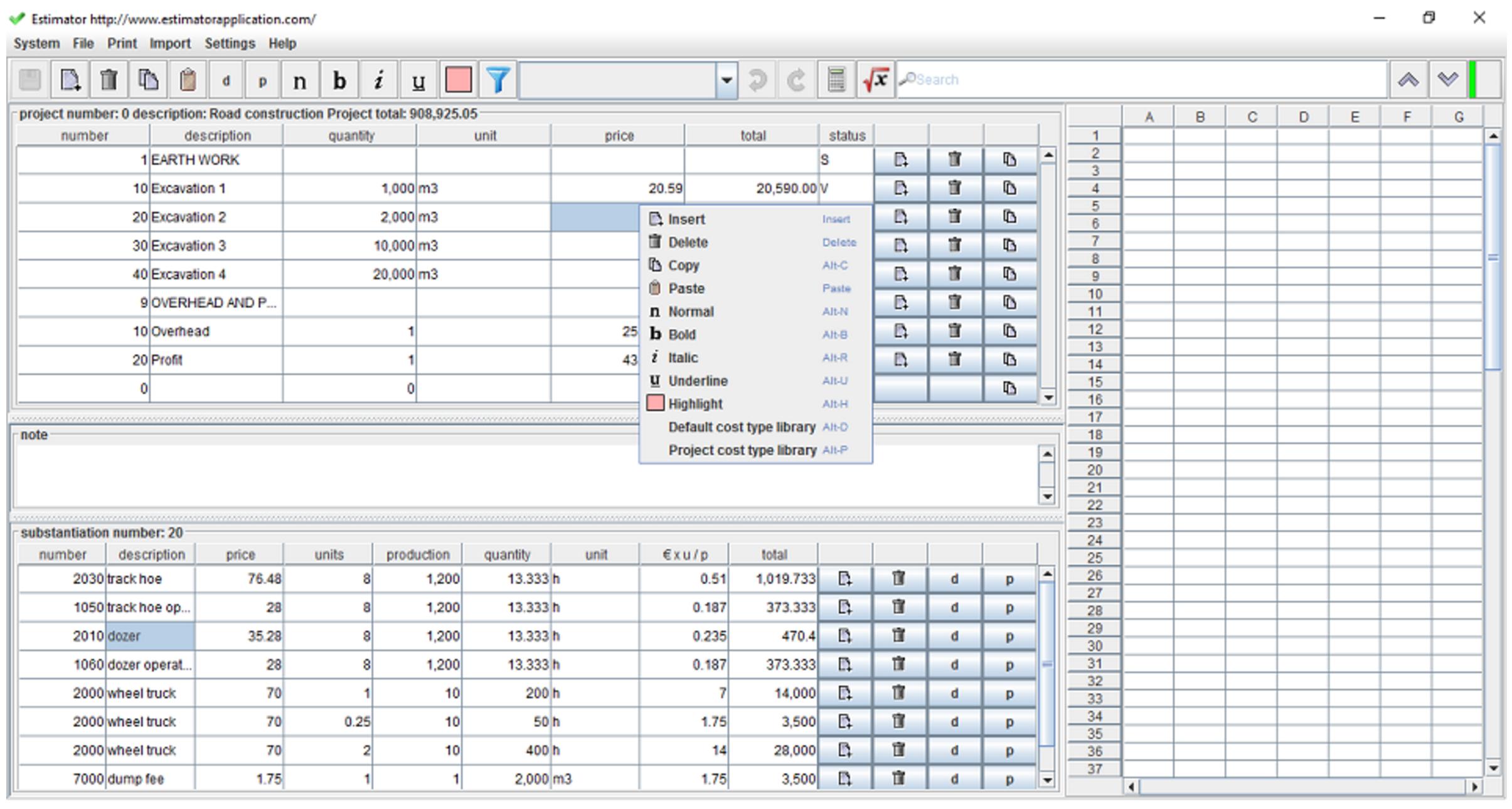Quantity Surveyor Excel Spreadsheets Regarding