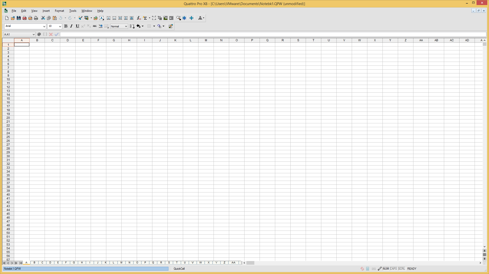 Quattro Spreadsheet In Corel Quattro Pro File Extensions