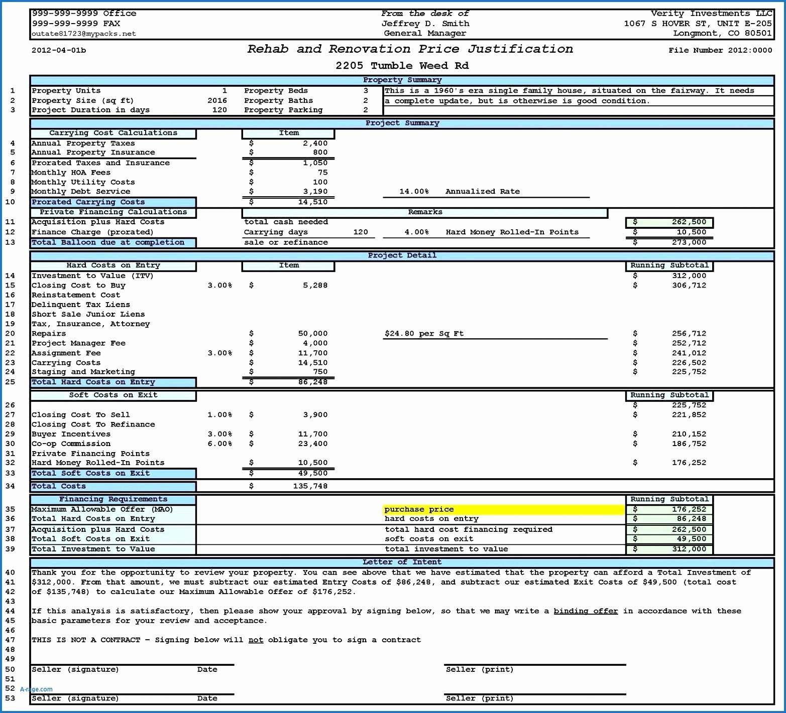 Real Estate Comparables Spreadsheet Inside Real Estate