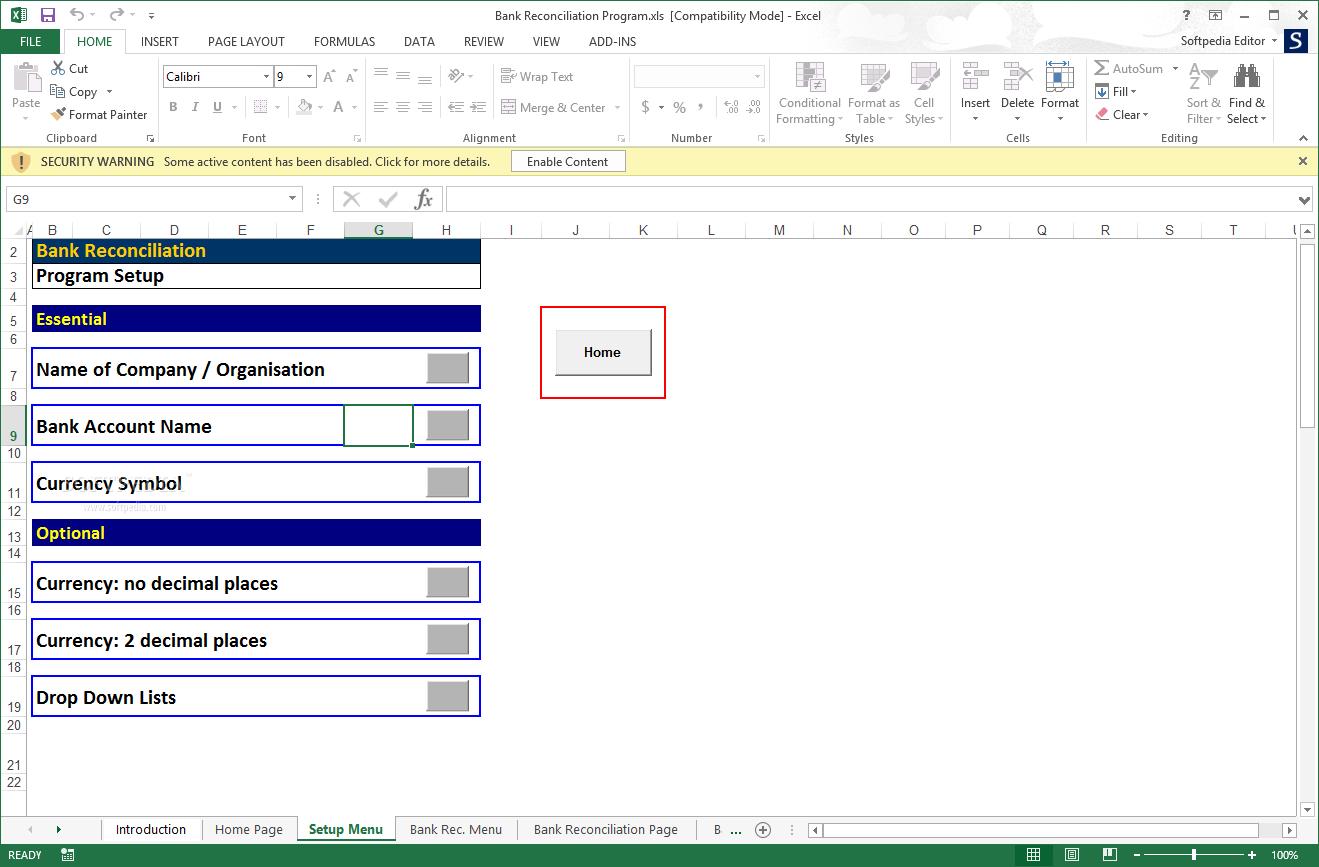 Reconciliation Excel Spreadsheet With Download Bank Reconciliation Program 2 02 Db Excel