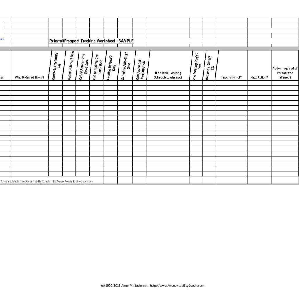 Referral Tracking Spreadsheet Free Throughout Referral
