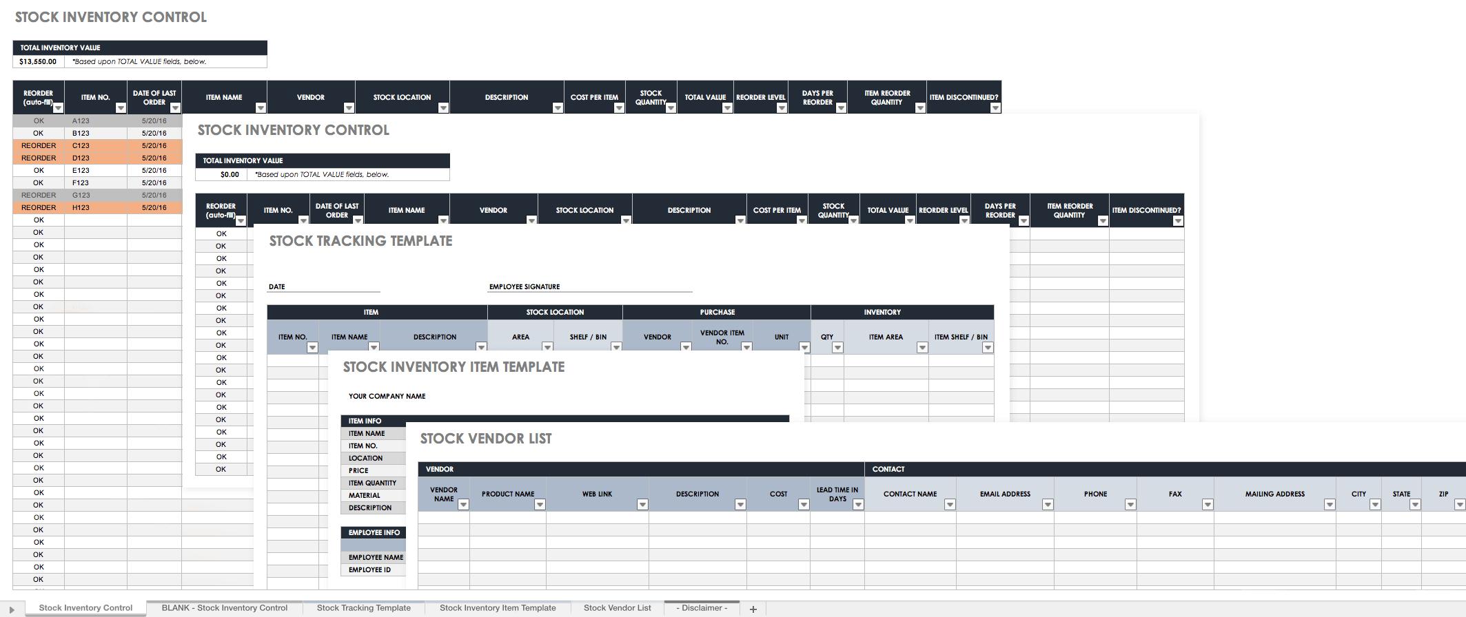 Retail Store Inventory Spreadsheet Spreadsheet Downloa