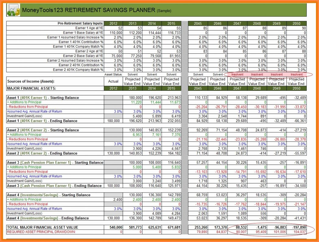 Retirement Budget Spreadsheet Pertaining To Retirement