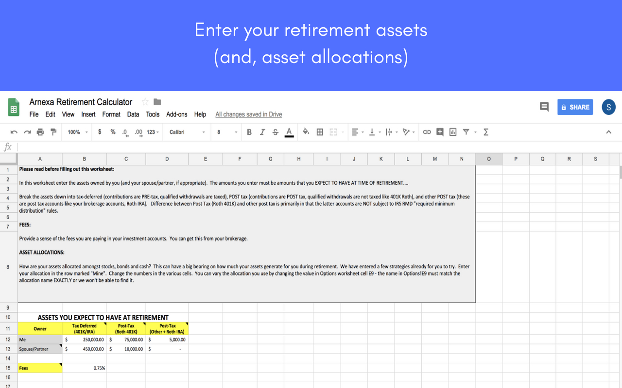 Roth Ira Excel Spreadsheet With Regard To Retirement