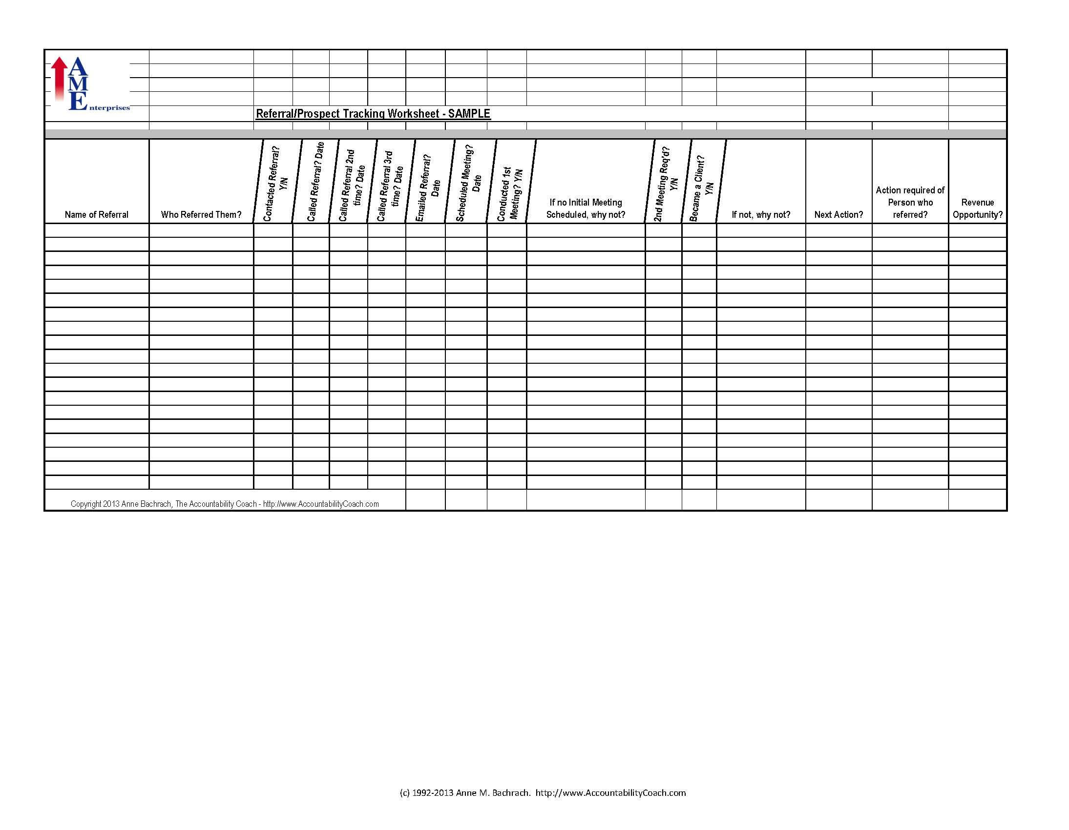 Sales Prospecting Spreadsheet Templates Spreadshee