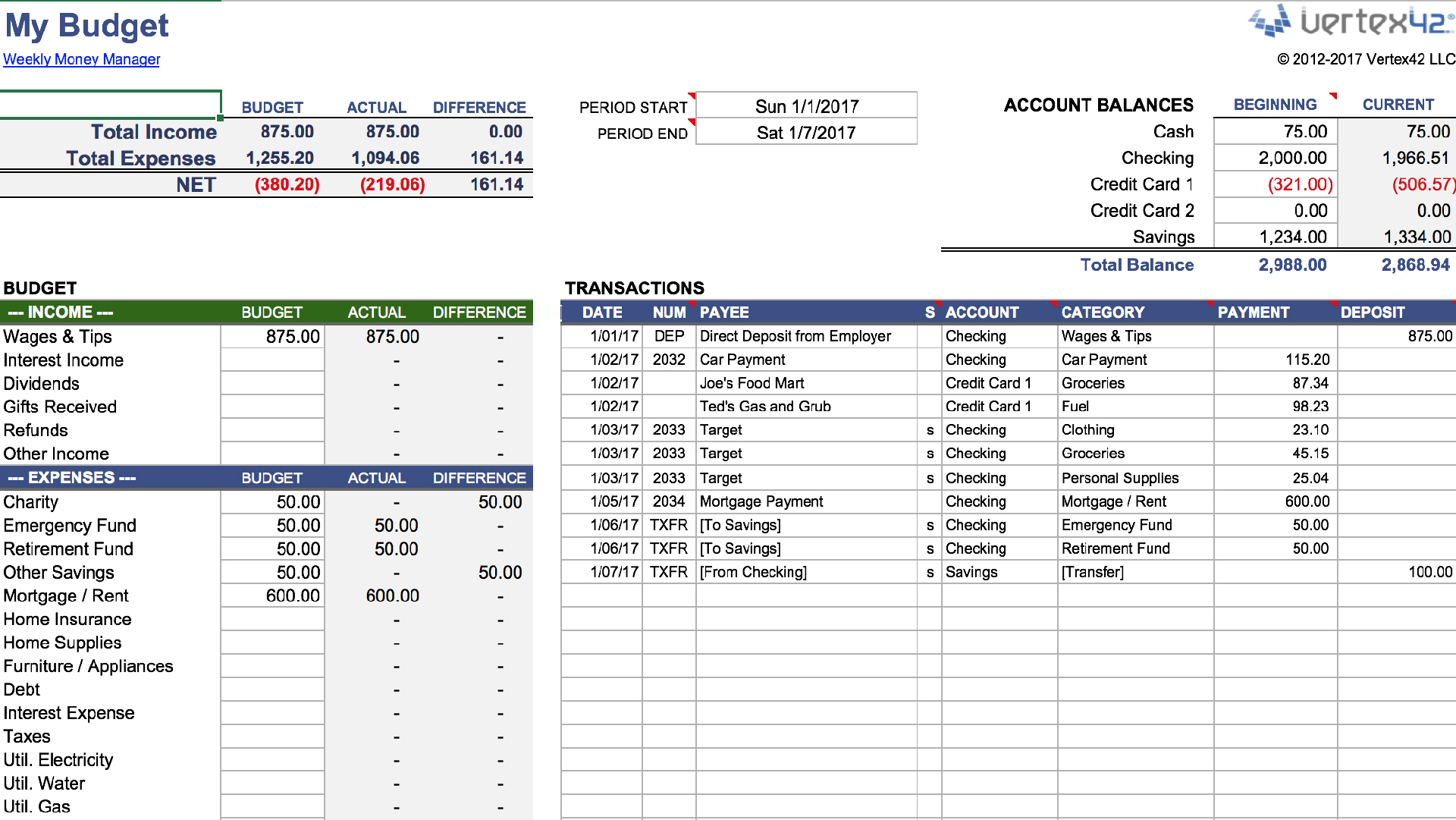 Excel Worksheet Manager