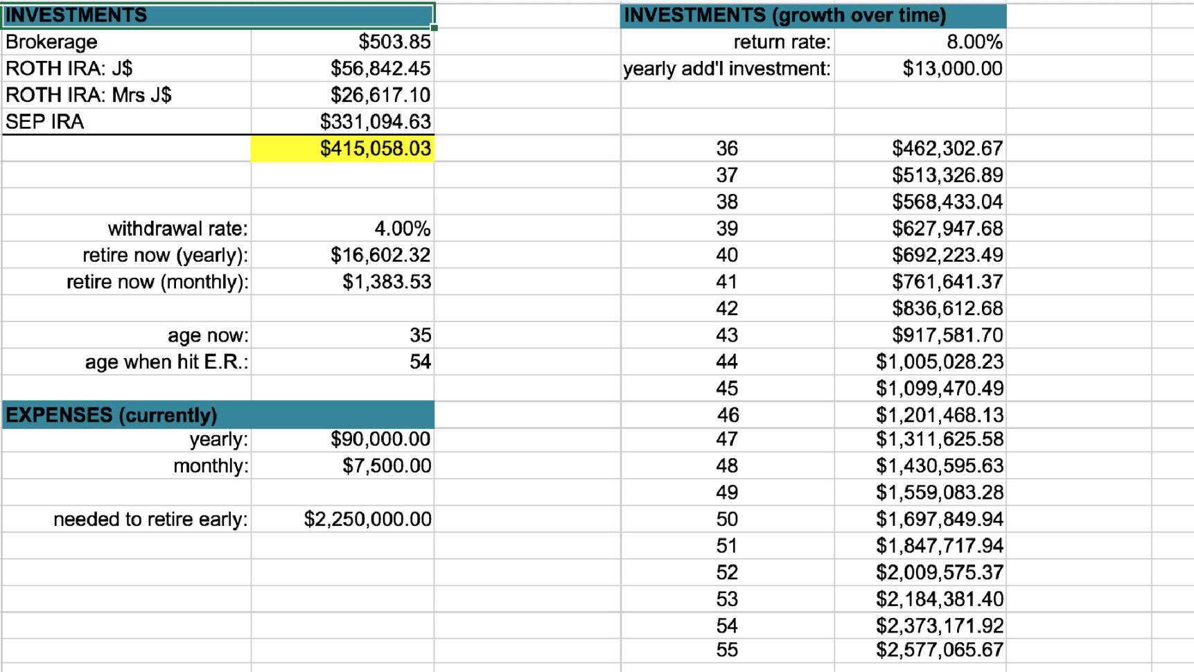 Savings Account Spreadsheet Spreadsheet Downloa A