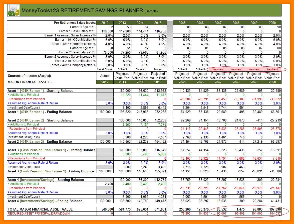 Savings Calculator Spreadsheet Spreadshee Retirement Savings Calculator Spreadsheet