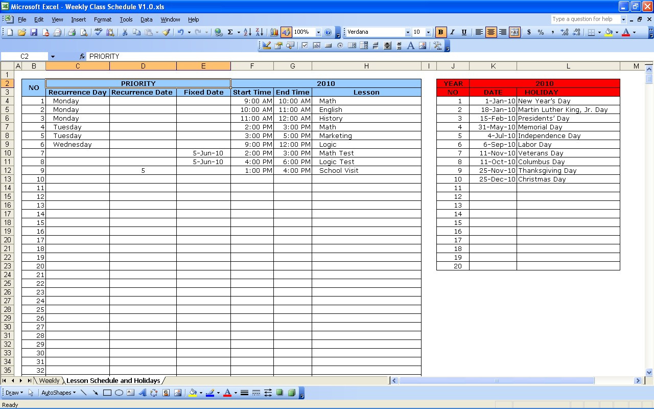 Schedule E Excel Spreadsheet In Schedule E Excel