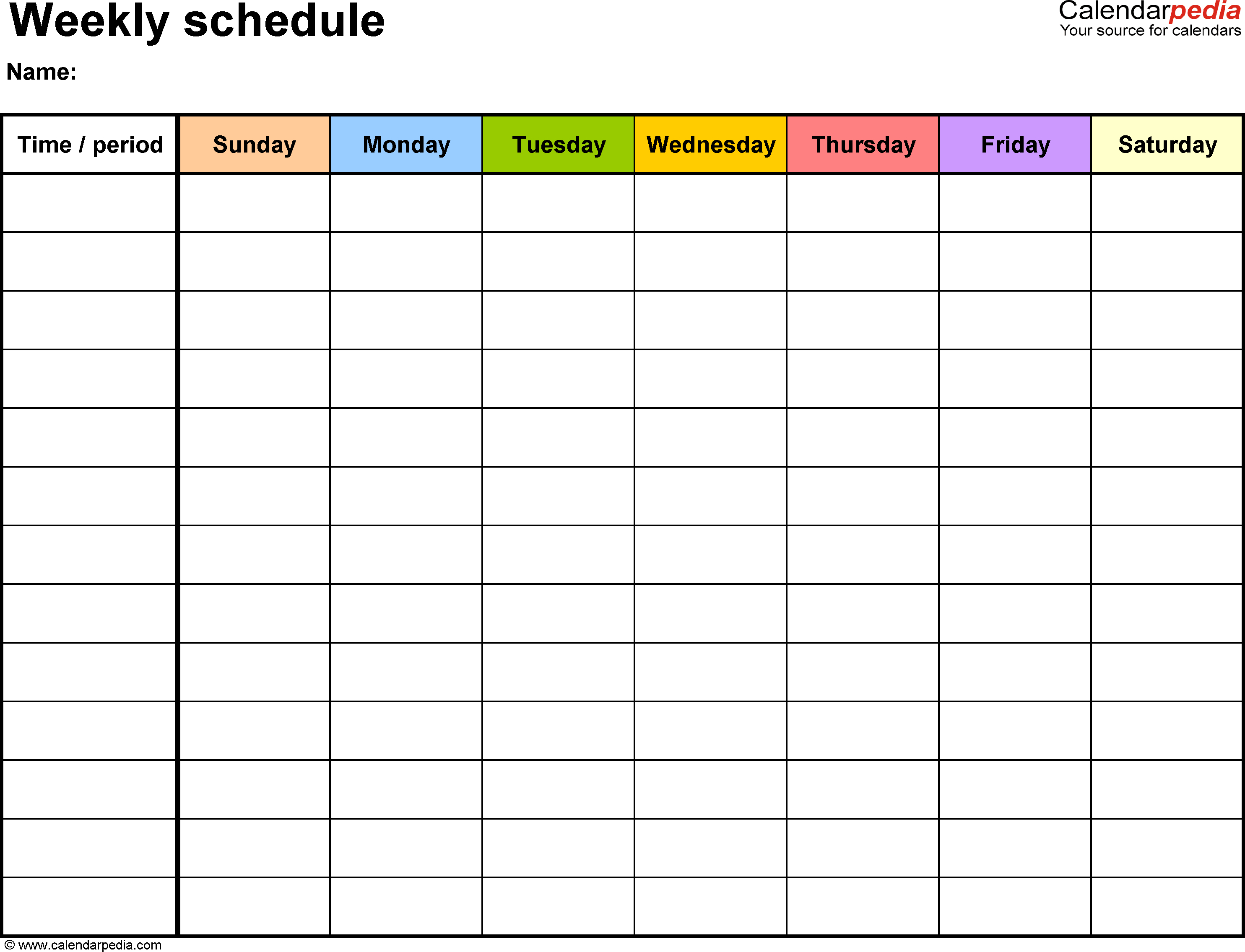 Scheduling Spreadsheet Free In Free Weekly Schedule