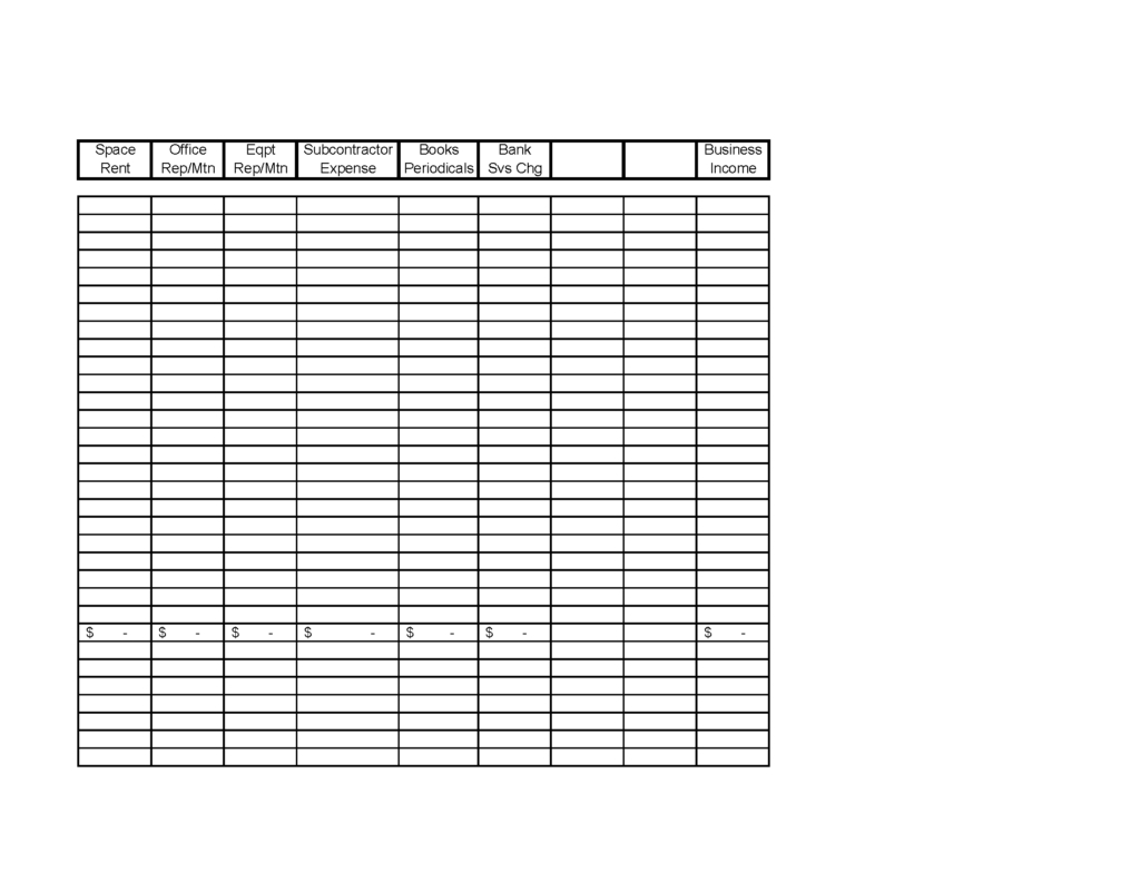 Self Employed Expense Spreadsheet With Regard To Schedule