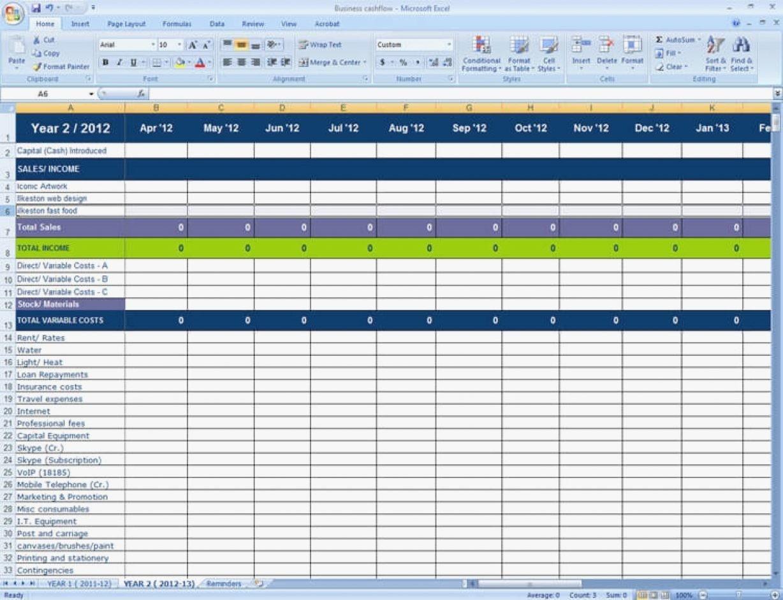 Self Employed Expenses Spreadsheet With Regard To Self