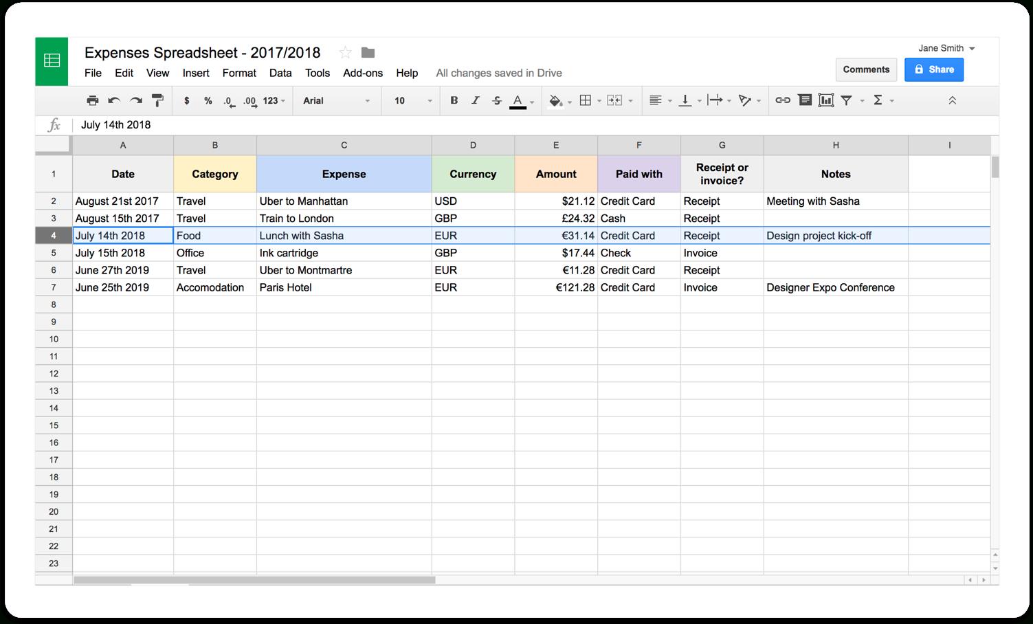 Self Employed Tax Spreadsheet Db Excel