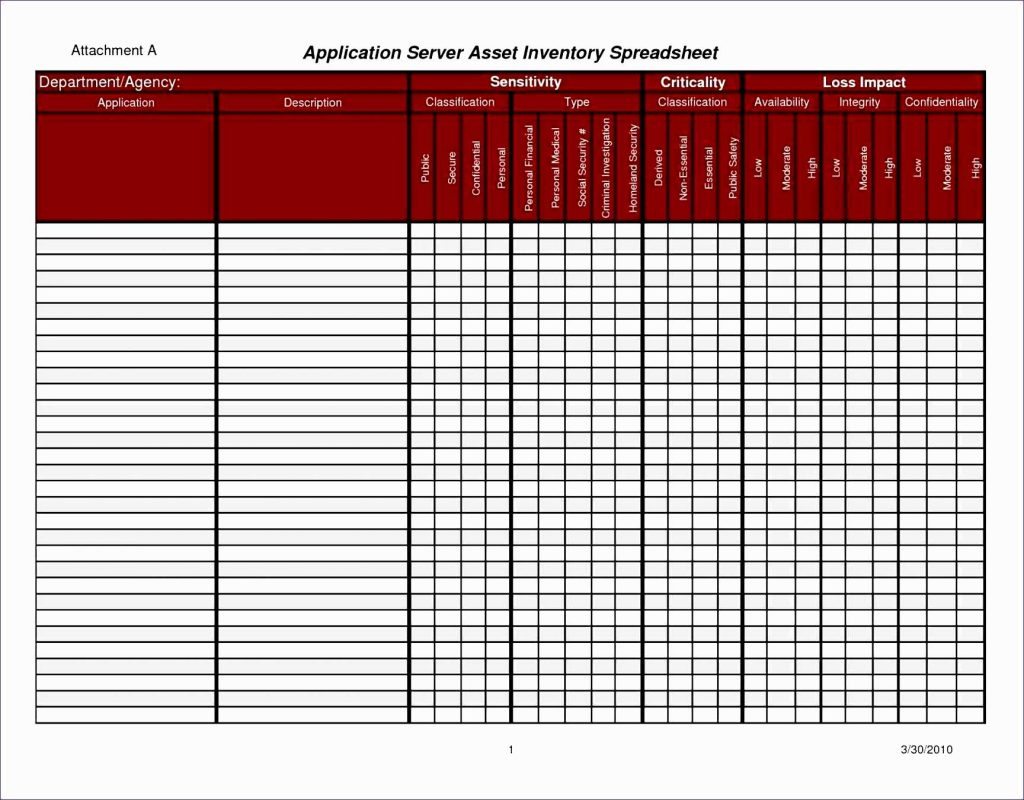 Server Inventory Spreadsheet Template Regarding Hotel