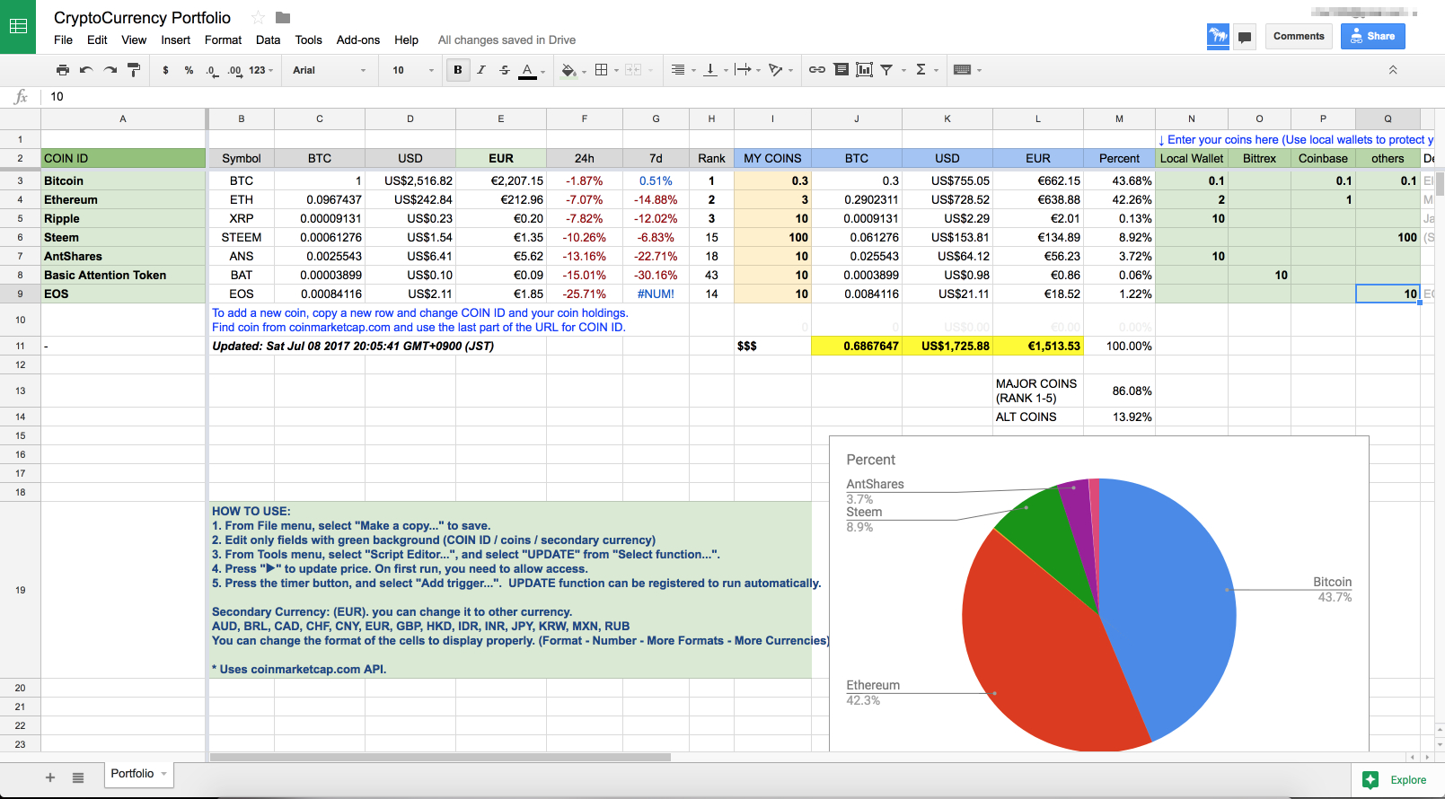 Share Tracking Excel Spreadsheet In Portfolio Tracking