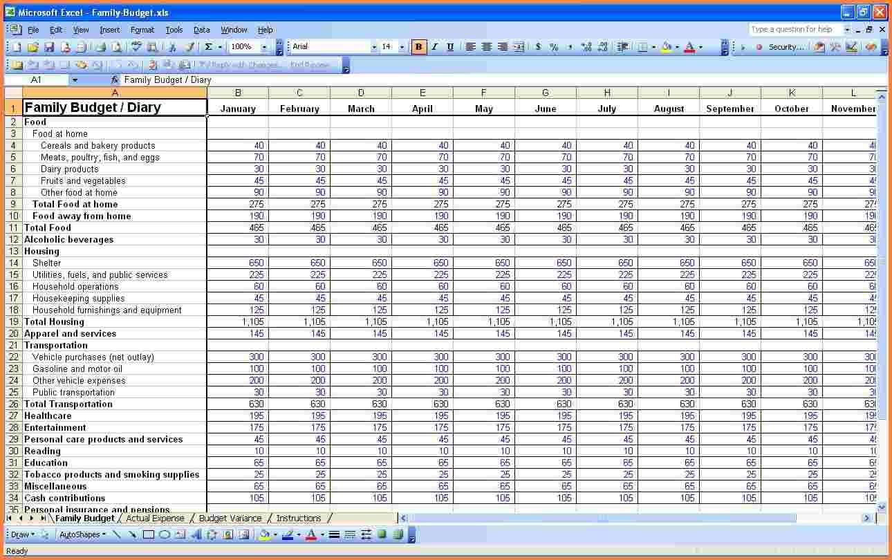 Shared Household Expenses Spreadsheet Spreadsheet Downloa