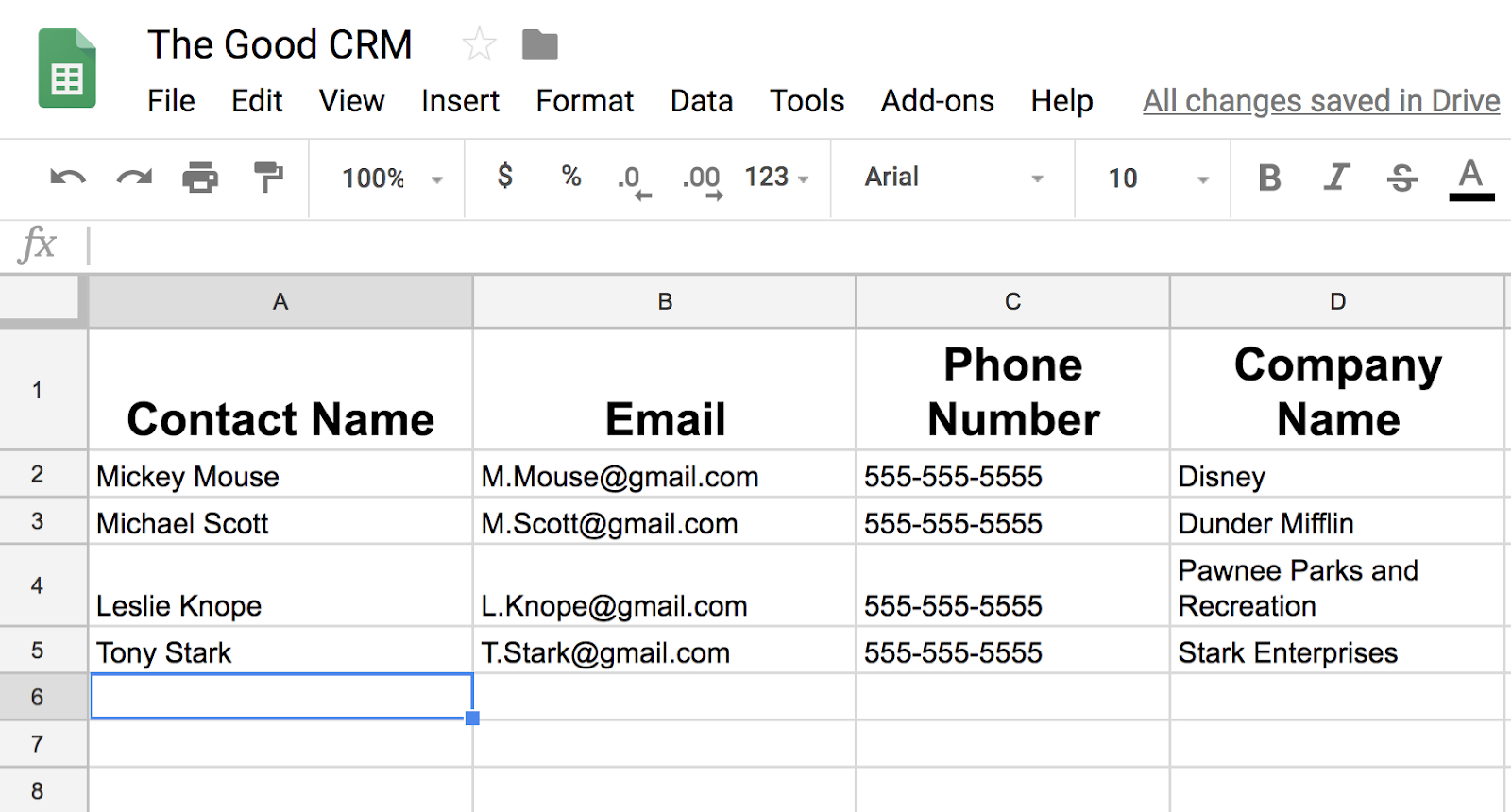 Simple Crm Spreadsheet With How To Use Sheets To