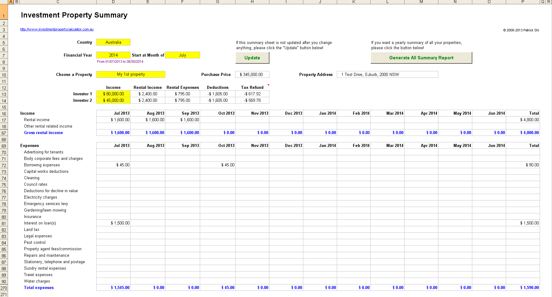 Sole Trader Bookkeeping Spreadsheet Australia