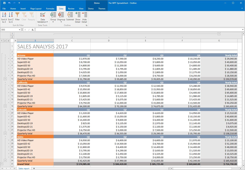 Spreadsheet Controls Db Excel