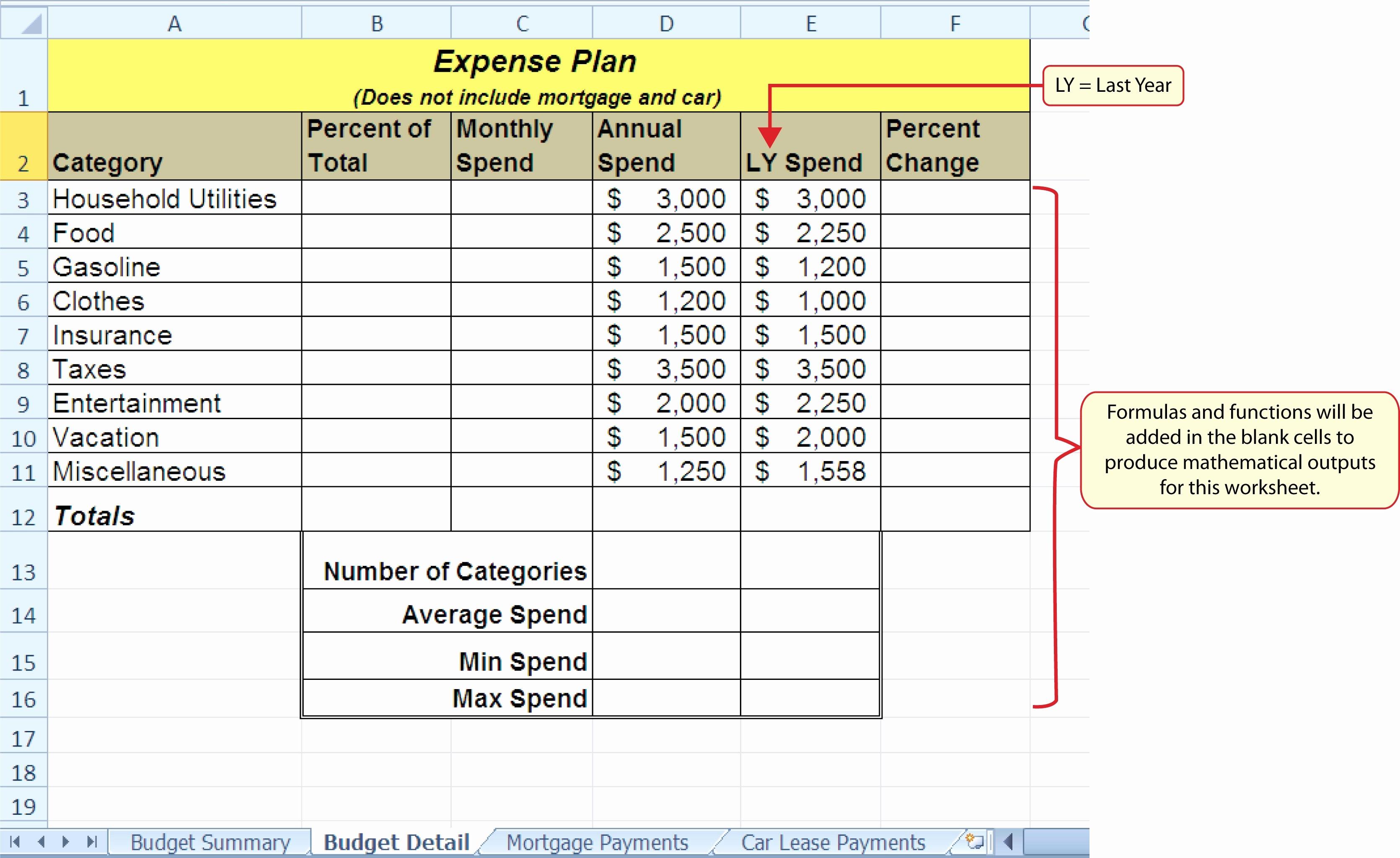 Spreadsheet Exercises For Students Spreadshee