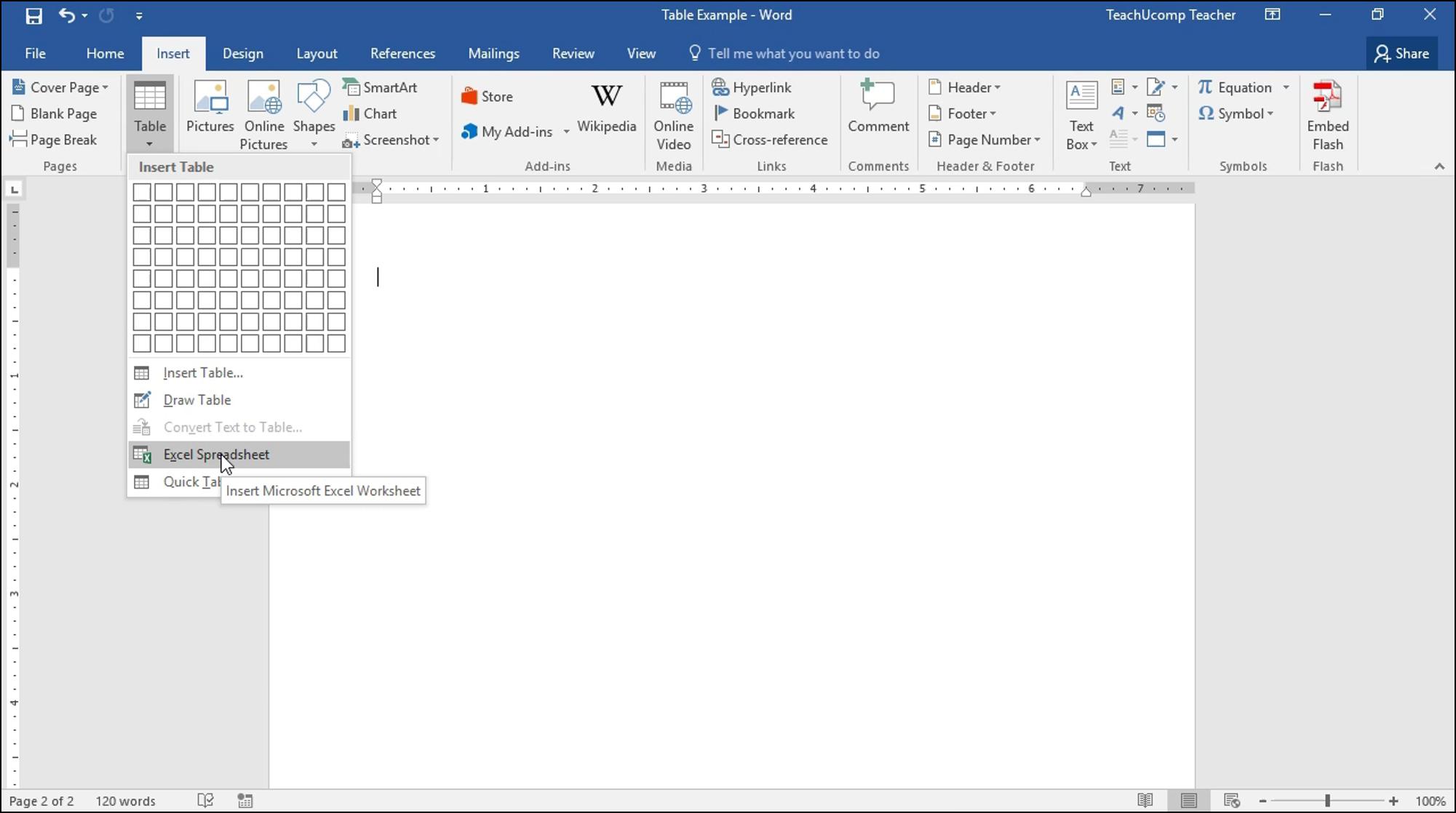 Bining Excel Worksheet