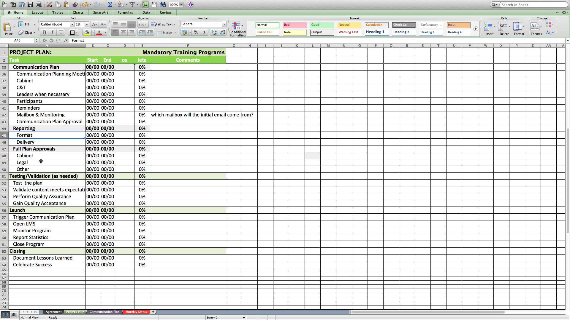 Creating Worksheet In Excel