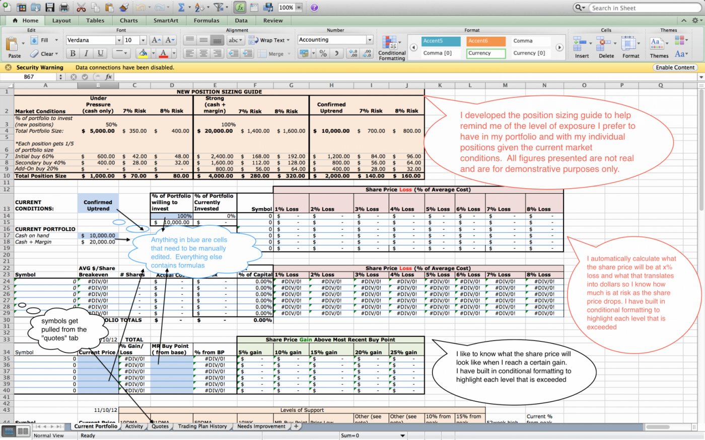 Stock Tracking Spreadsheet Template With How To Create