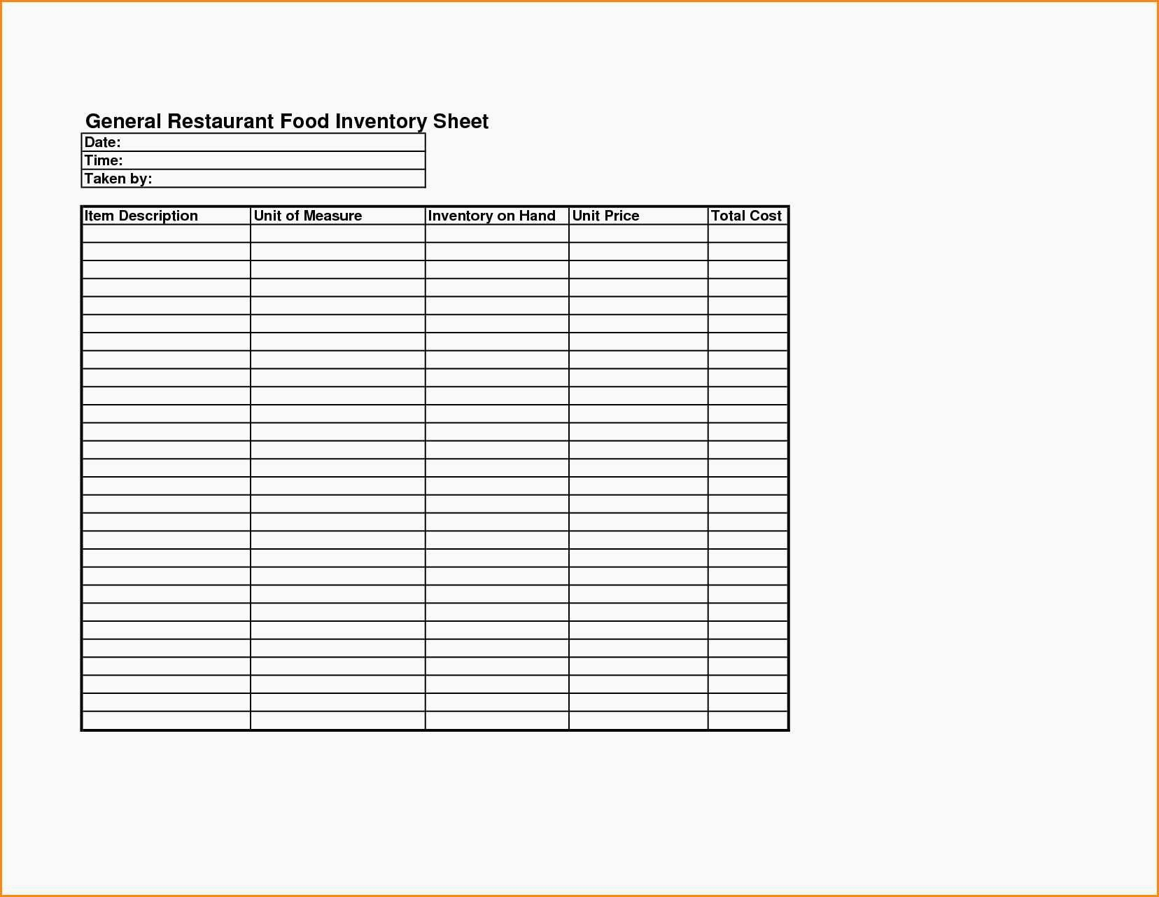Stocktake Excel Spreadsheet For Liquor Inventory Sheet