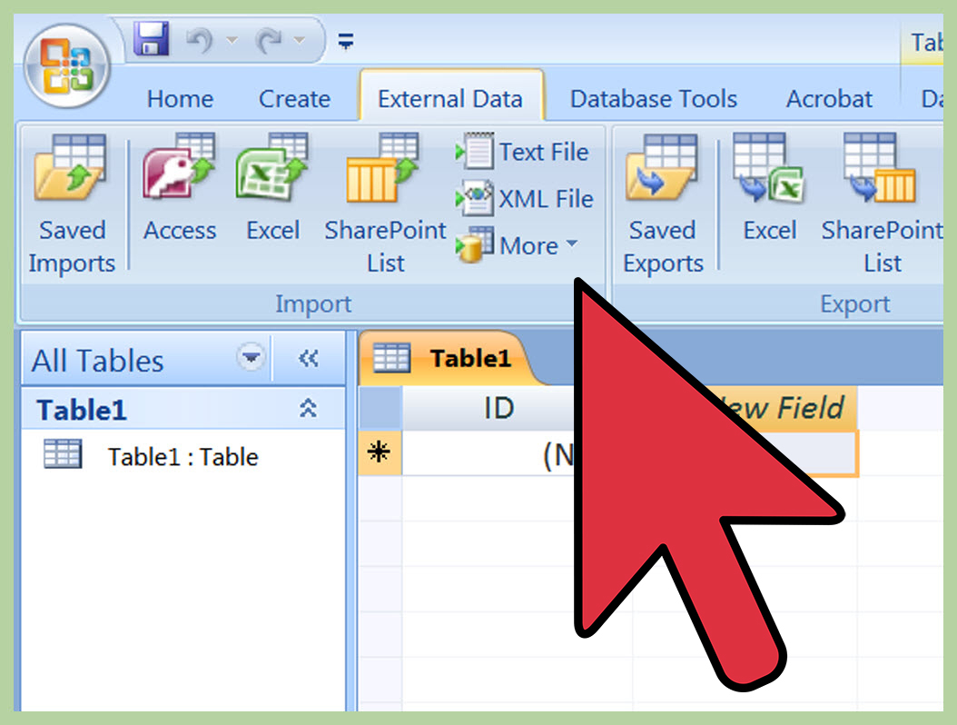 Turn My Excel Spreadsheet Into App Pertaining To How To Import Excel Into Access 8 Steps With