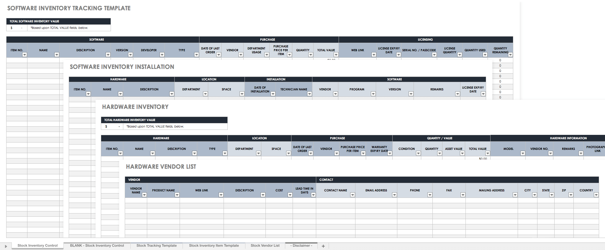 Uniform Inventory Spreadsheet Spreadshee Uniform