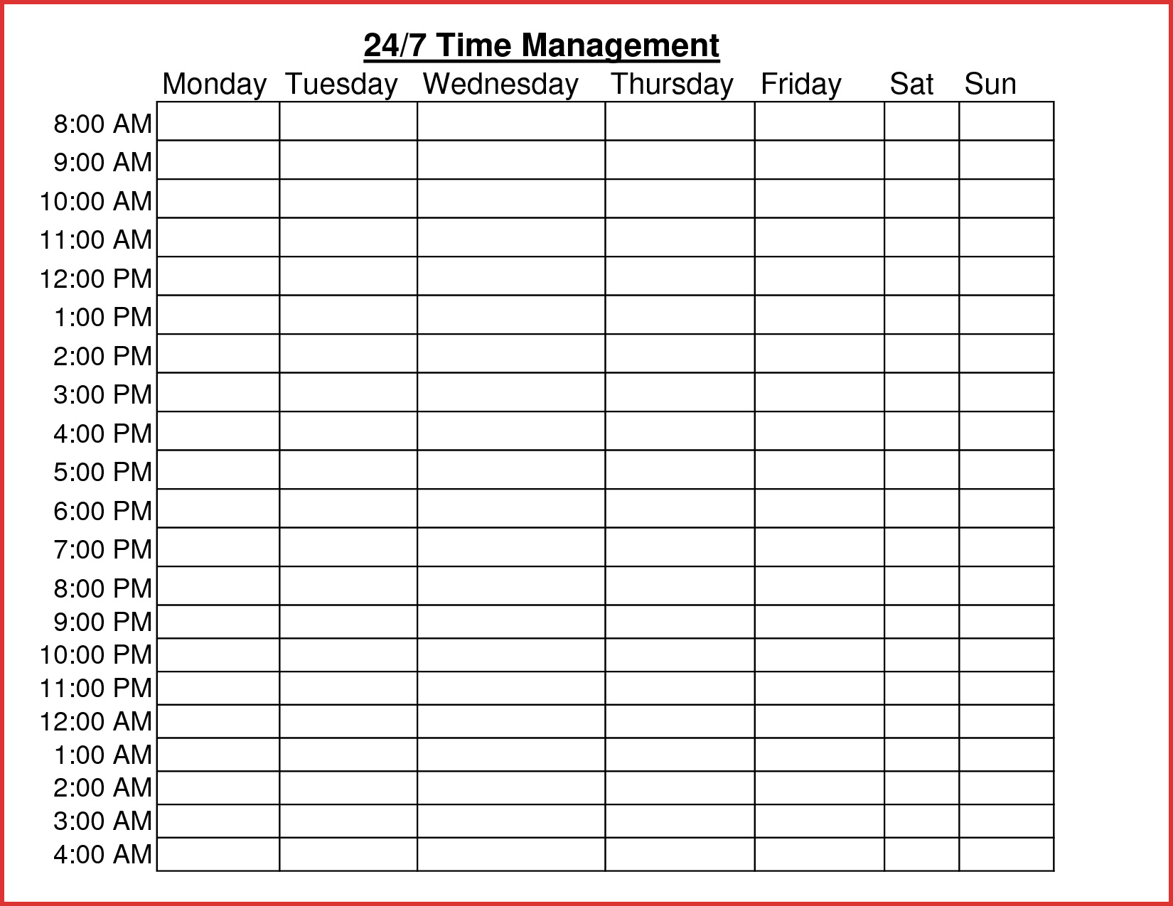 Volunteer Schedule Spreadsheet