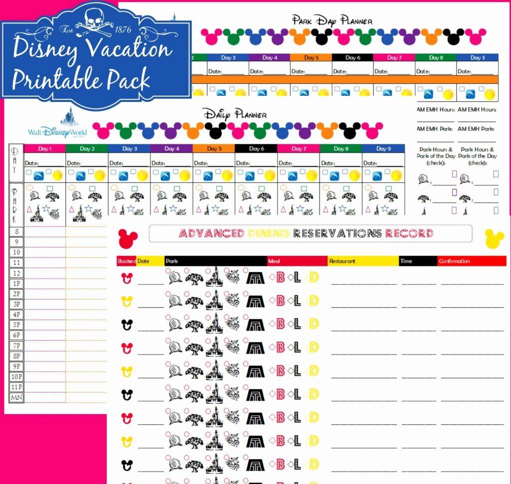 Walt Disney World Planning Spreadsheet Spreadshee