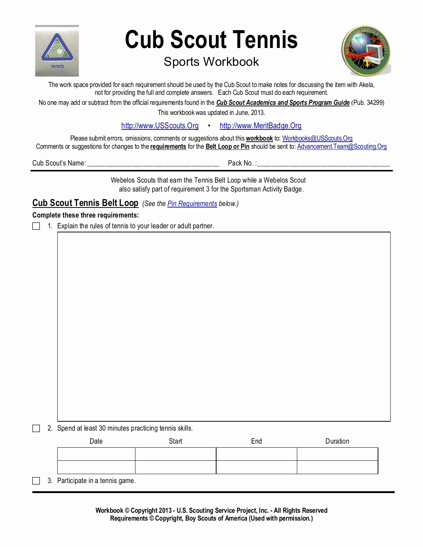 Webelos Requirements Spreadsheet Printable Spreadshee