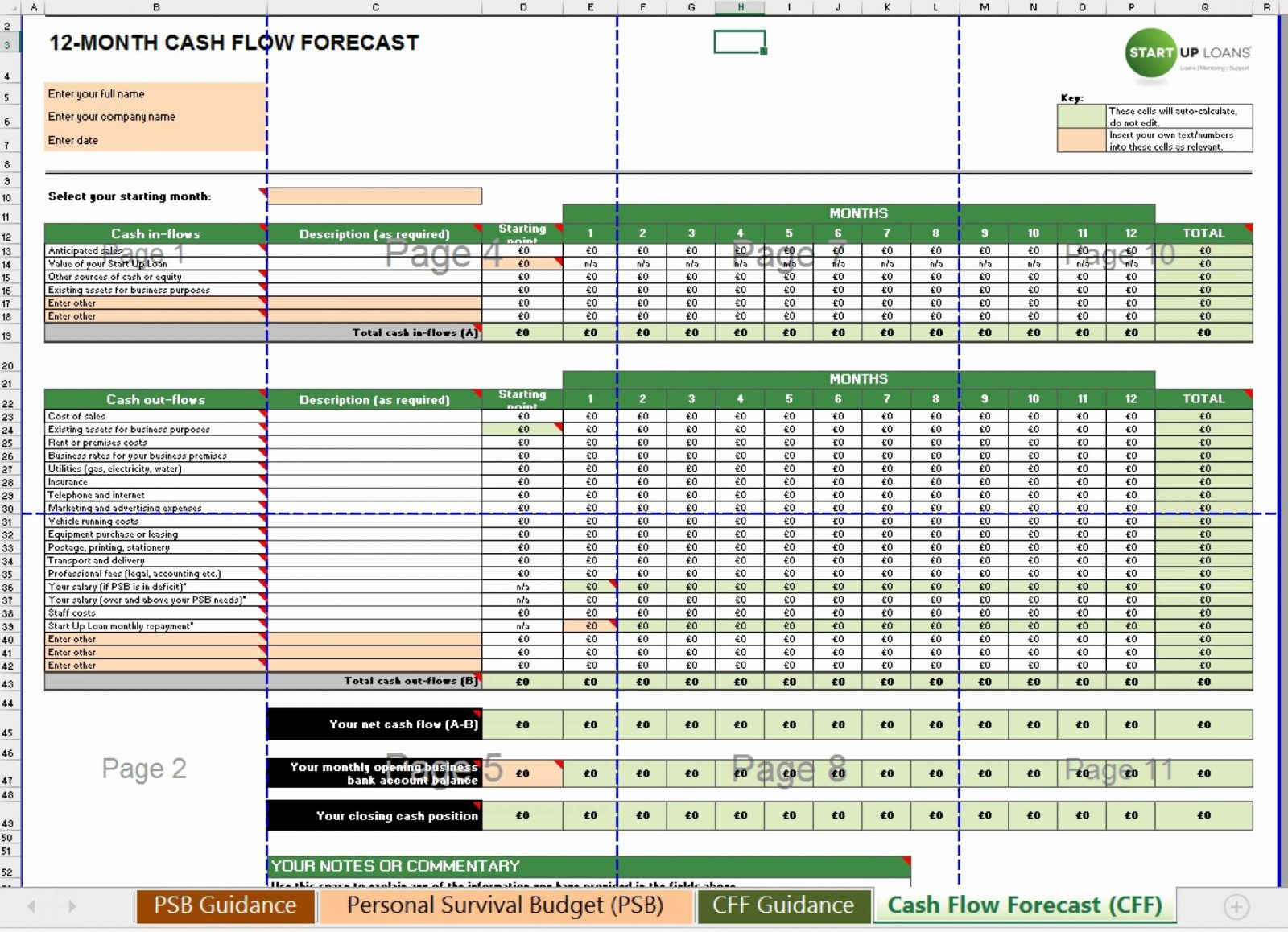 Spreadsheet Template Page 296 Spreadsheet Modelling Examples College Expenses Spreadsheet