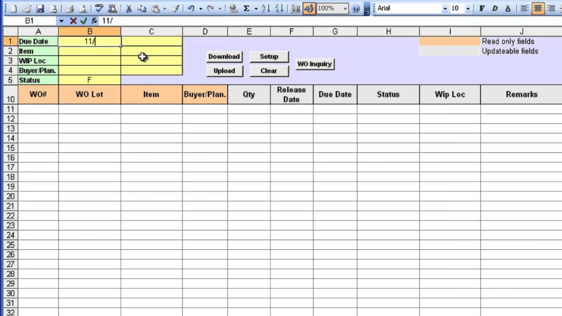 Tracking Worksheet
