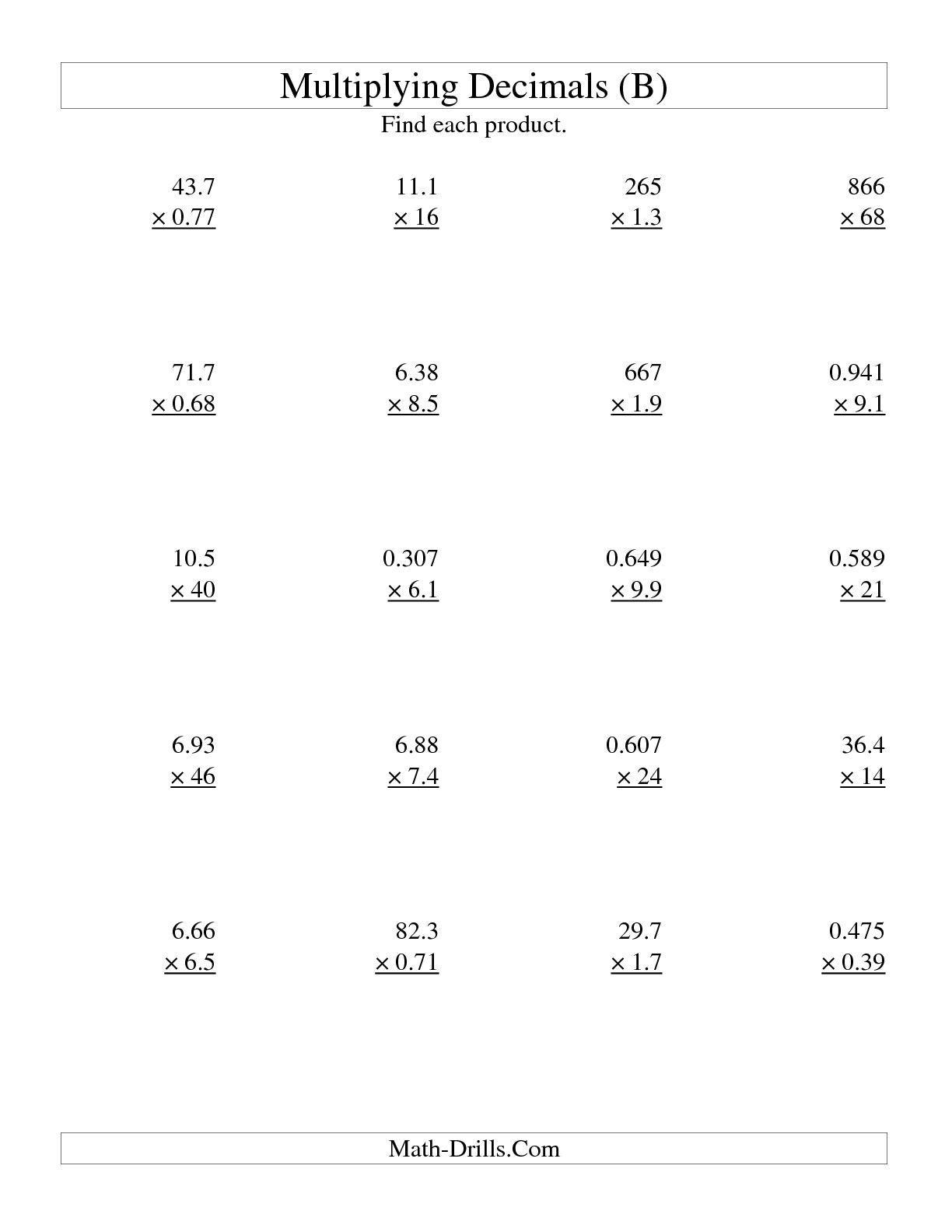 009 Worksheet Ma04deci L1 W Divide Decimals 752x
