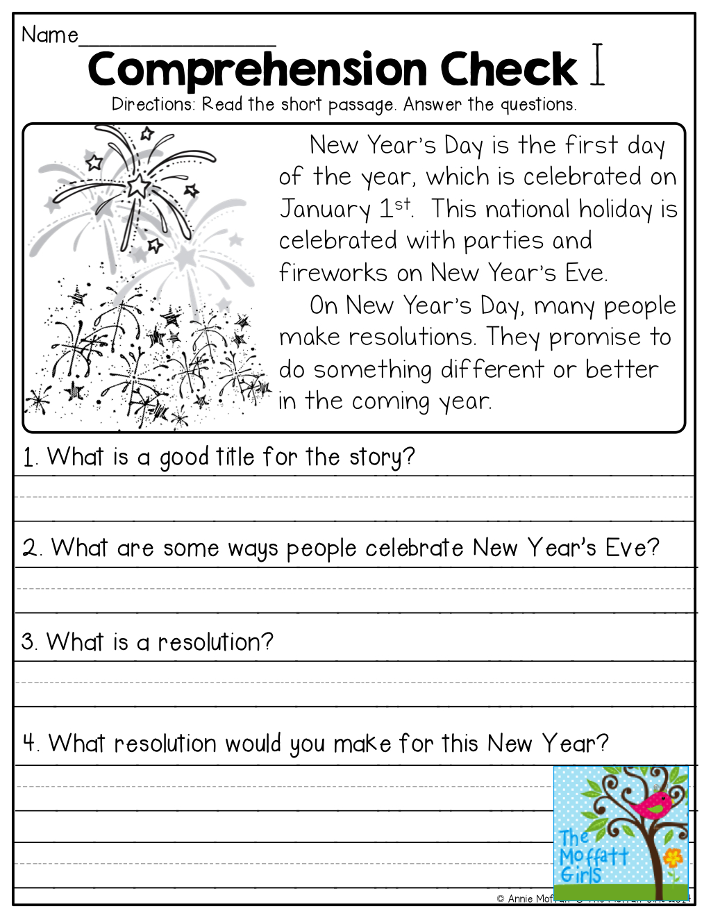 1st Grade Reading Comprehension Worksheets For Free Math
