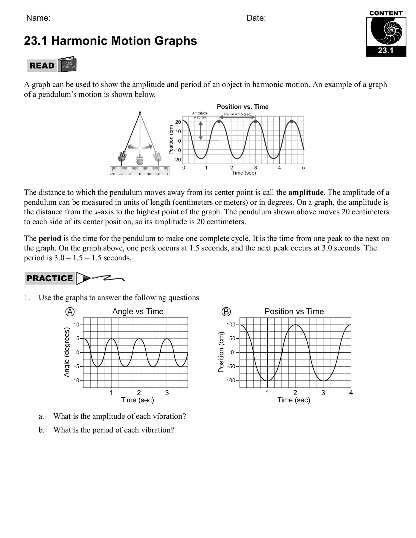 231 Period And Frequency Cpo Science Pages 1 31 Text