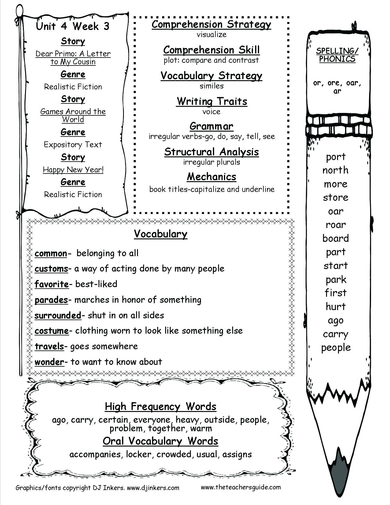 2nd Grade Grammar Worksheets Sandboxpaperco