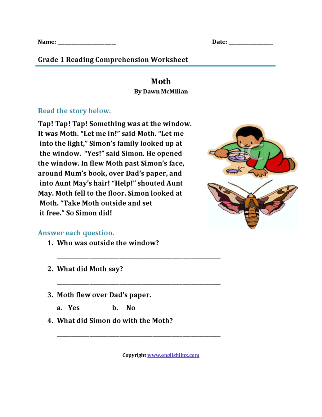 2nd Grade Reading Comprehension Worksheets To You Math