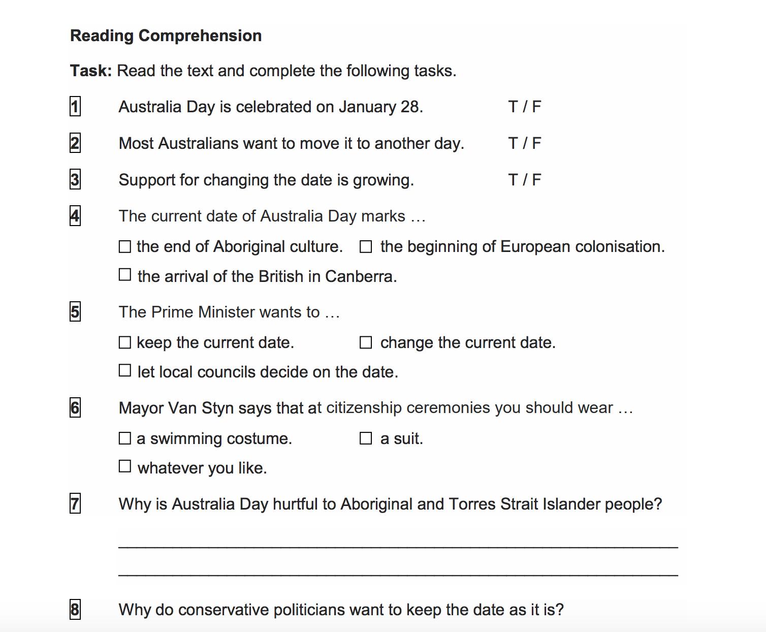 11th Grade English Worksheets