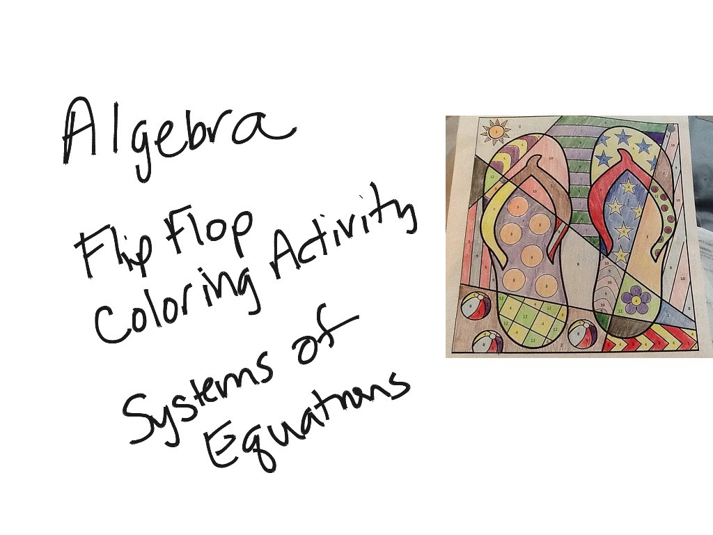 413 Algebra Coloring Activity Systems Of Equations
