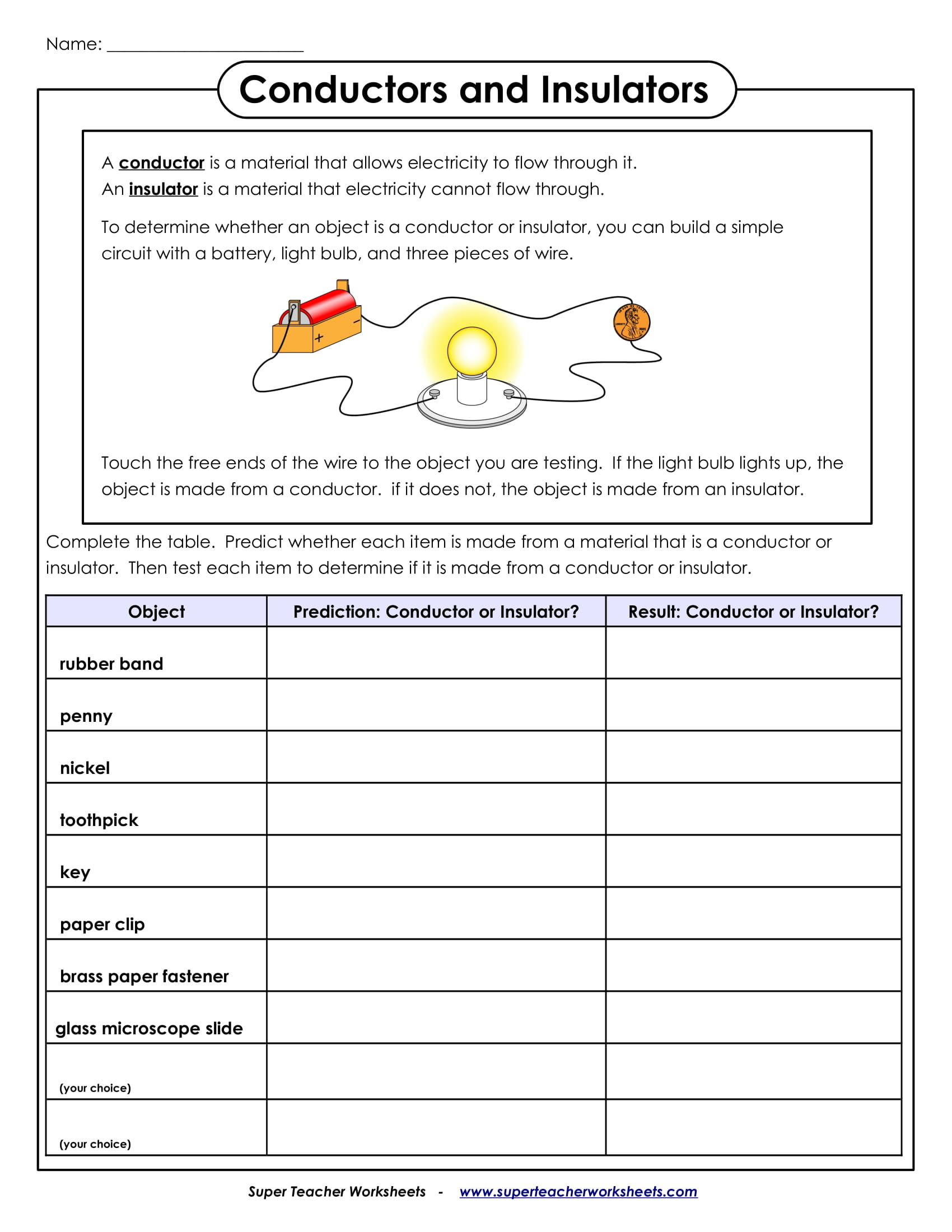 5 Science Worksheets For Students